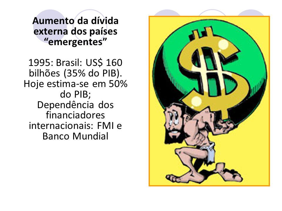 Aumento da dívida externa dos países emergentes