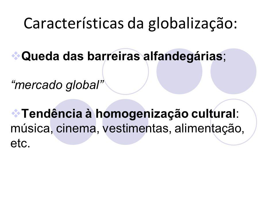 Características da globalização: