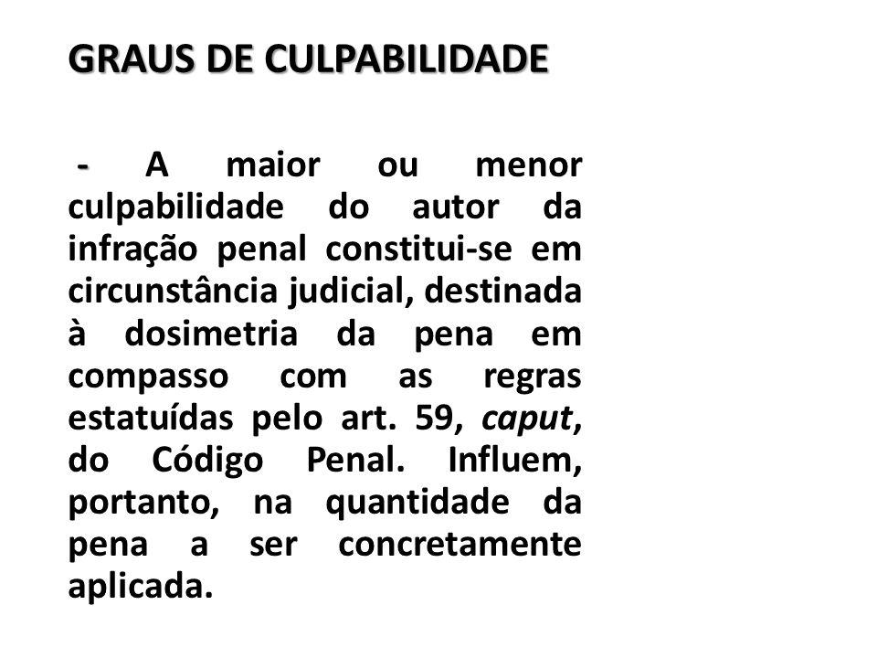 GRAUS DE CULPABILIDADE