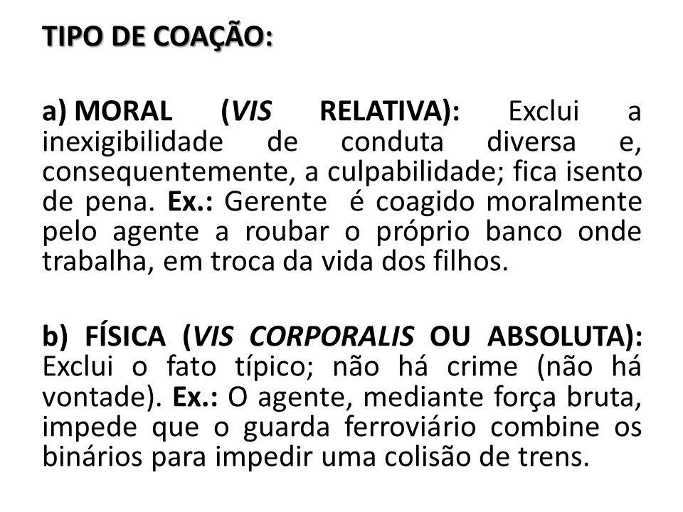 TIPO DE COAÇÃO: