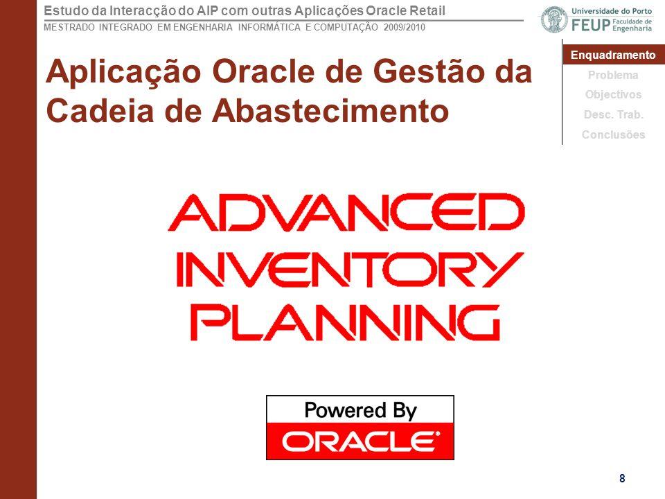Aplicação Oracle de Gestão da Cadeia de Abastecimento