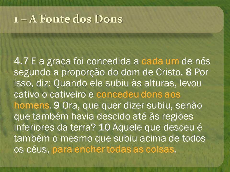 1 – A Fonte dos Dons