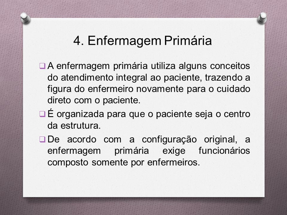 4. Enfermagem Primária