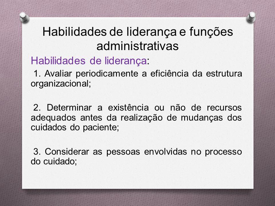 Habilidades de liderança e funções administrativas