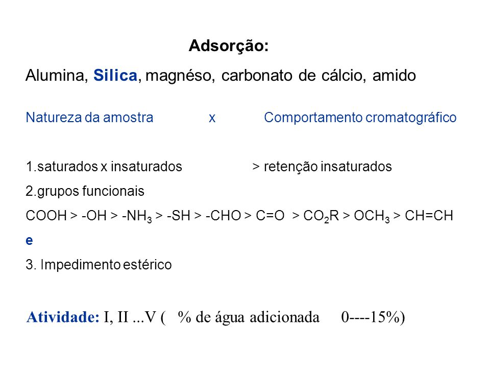 Alumina, Silica, magnéso, carbonato de cálcio, amido