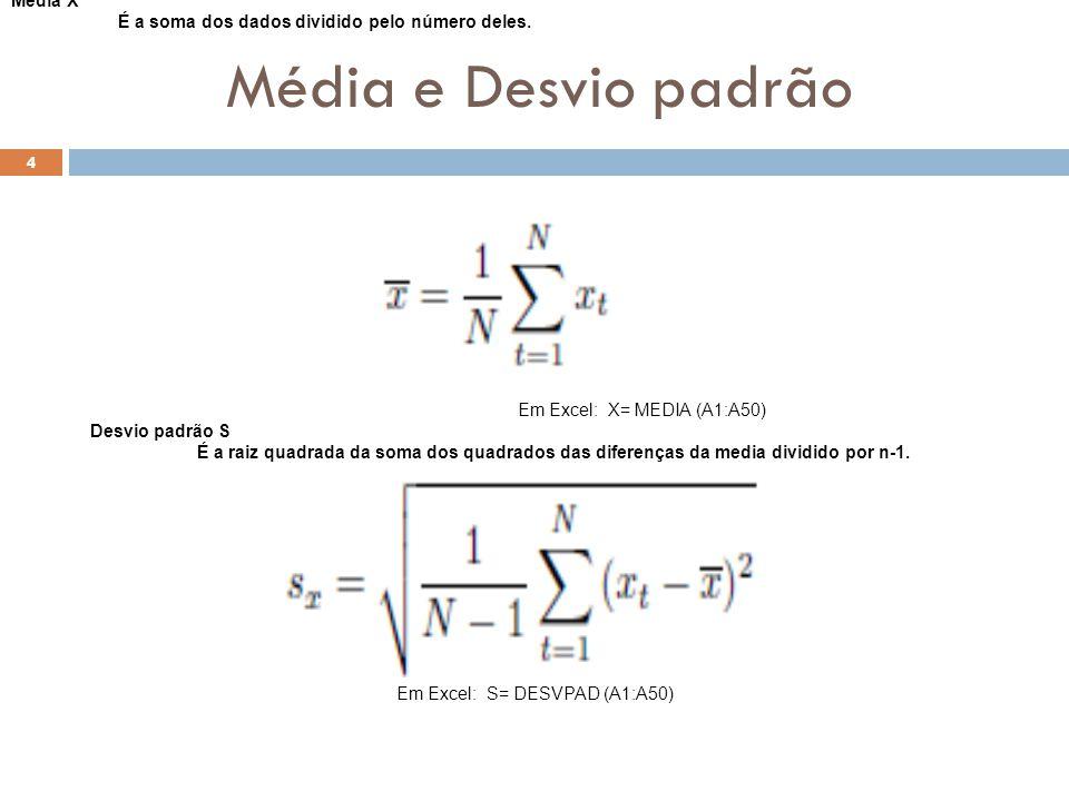 Em Excel: S= DESVPAD (A1:A50)