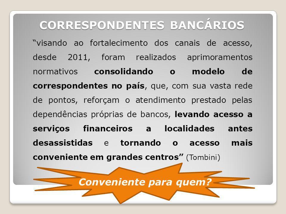 CORRESPONDENTES BANCÁRIOS