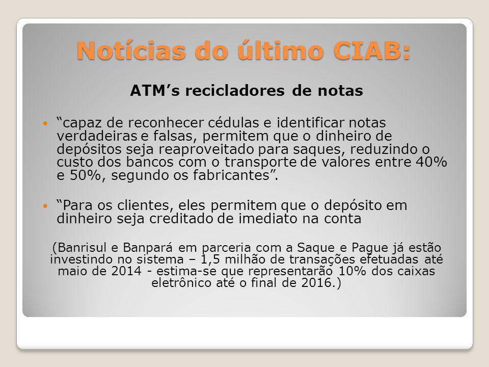 Notícias do último CIAB: