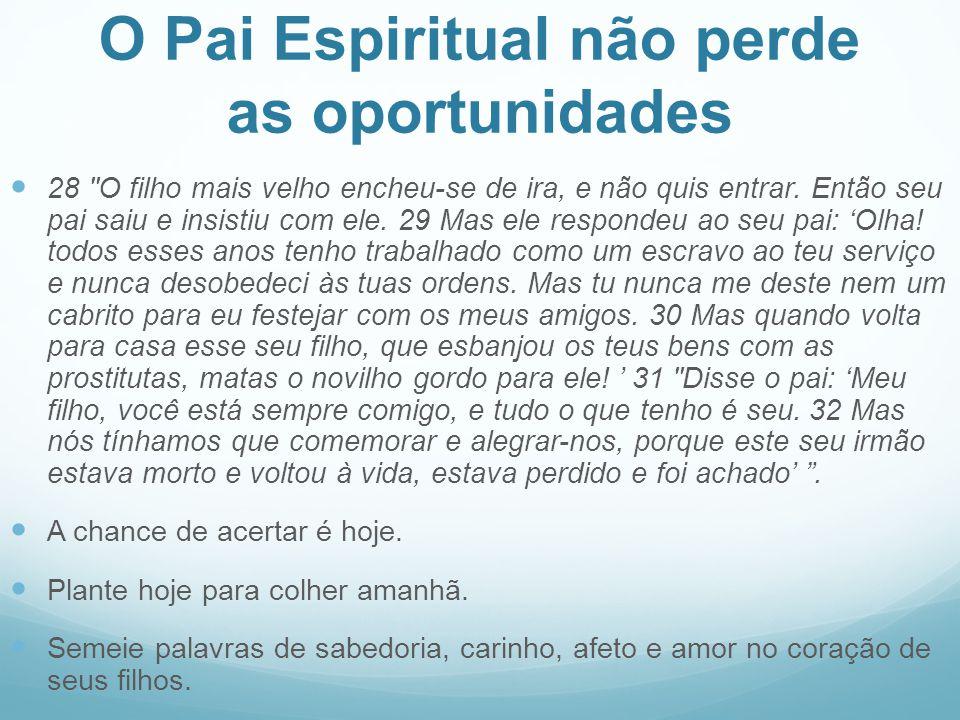 O Pai Espiritual não perde as oportunidades
