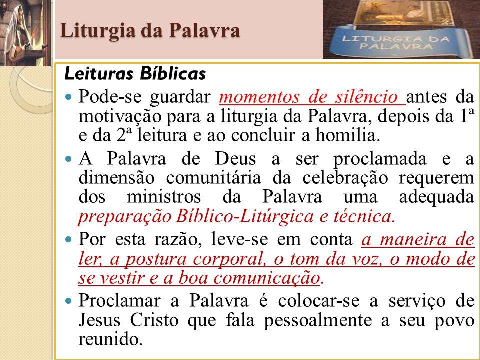 Liturgia da Palavra Leituras Bíblicas