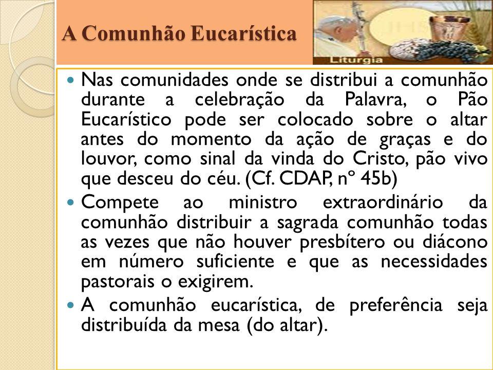 A Comunhão Eucarística