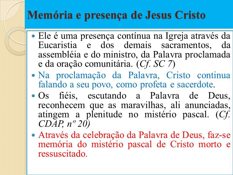 Memória e presença de Jesus Cristo