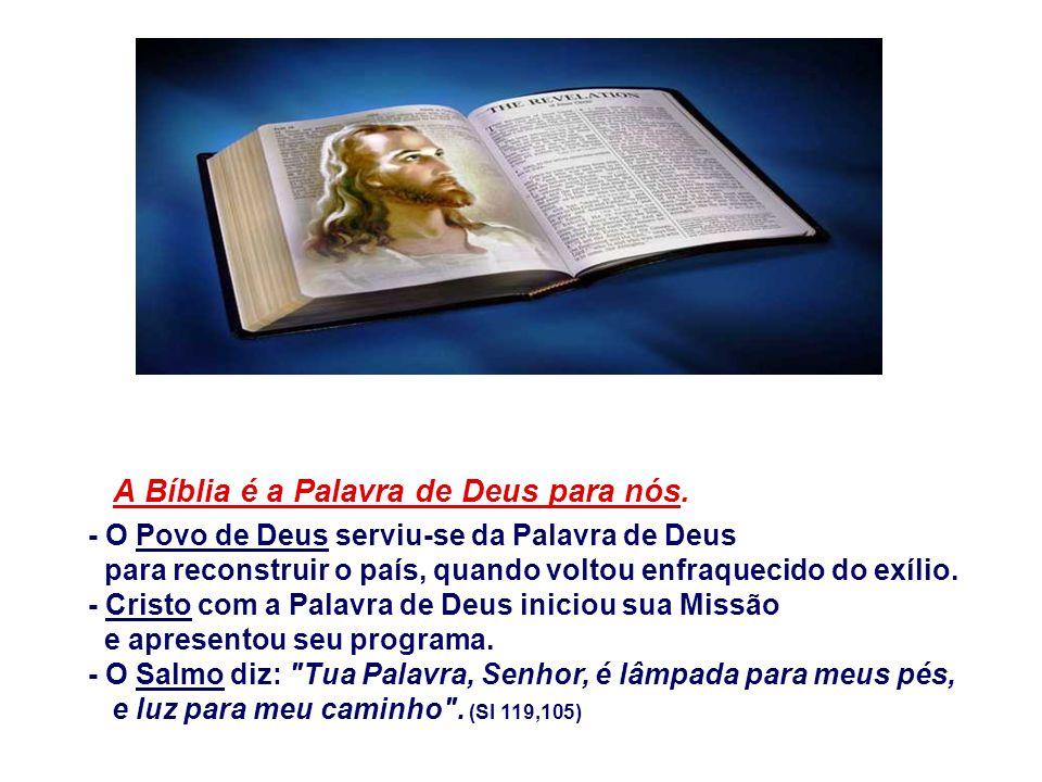 A Bíblia é a Palavra de Deus para nós.