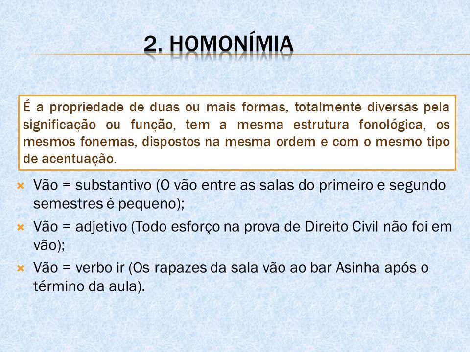 2. homonímia