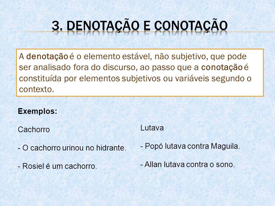 3. Denotação e conotação