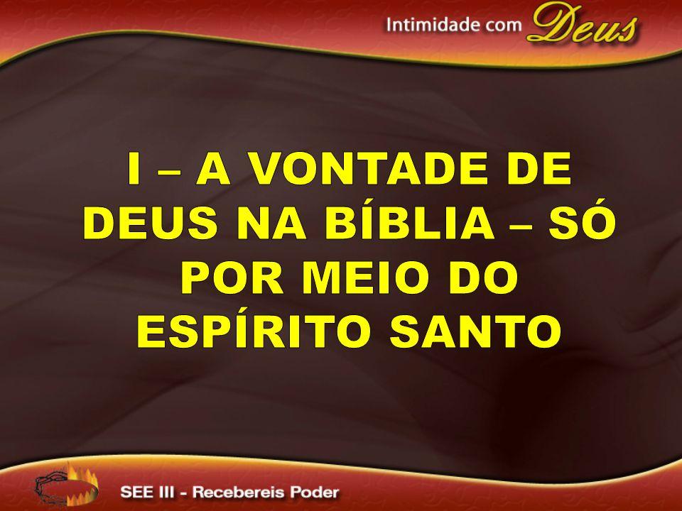 I – A vontade de Deus na Bíblia – Só por meio do Espírito Santo