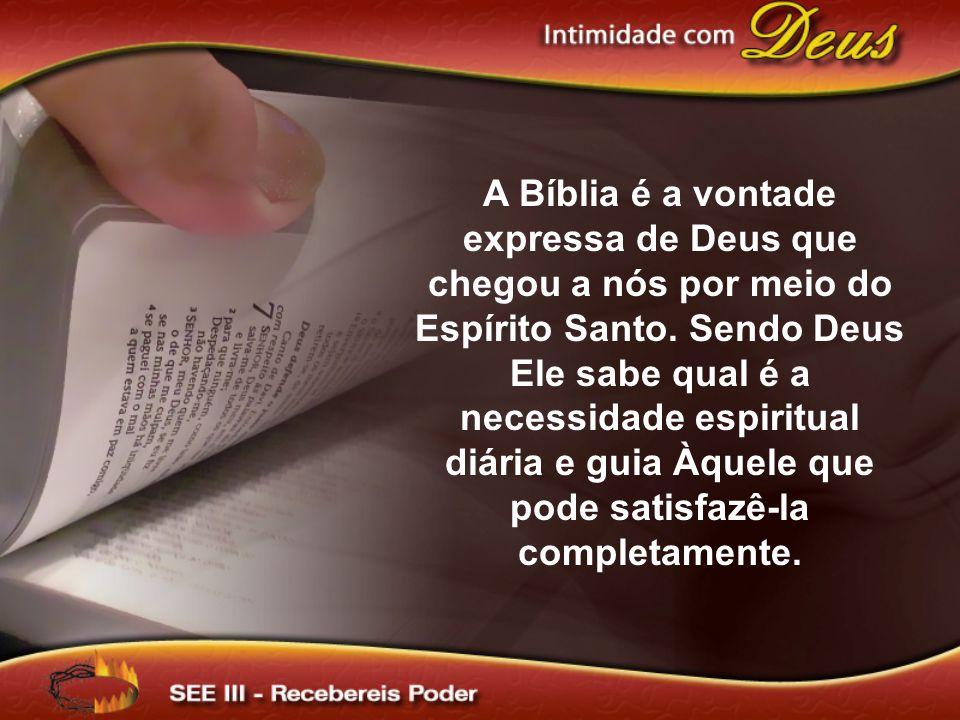 A Bíblia é a vontade expressa de Deus que chegou a nós por meio do Espírito Santo.