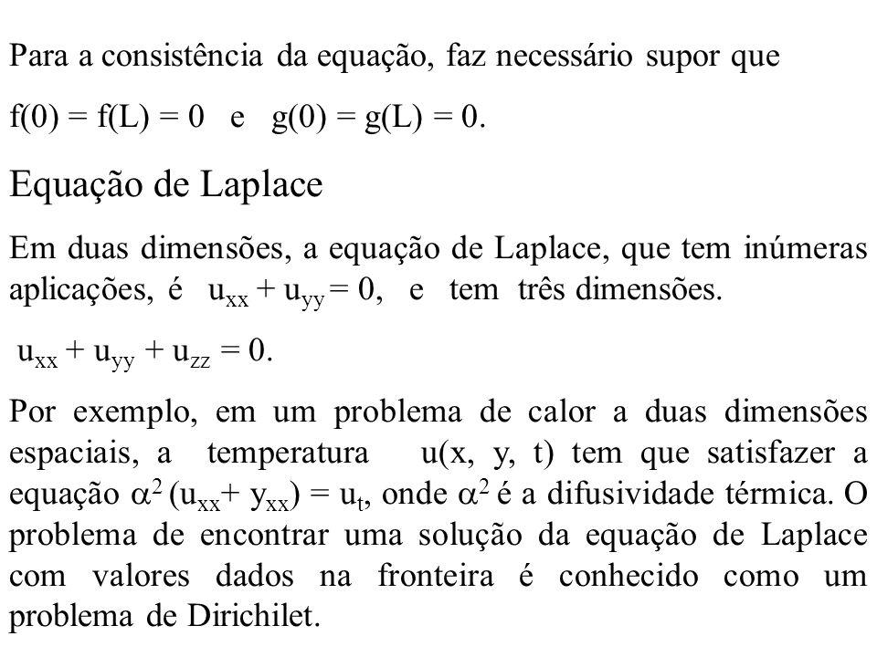 Para a consistência da equação, faz necessário supor que