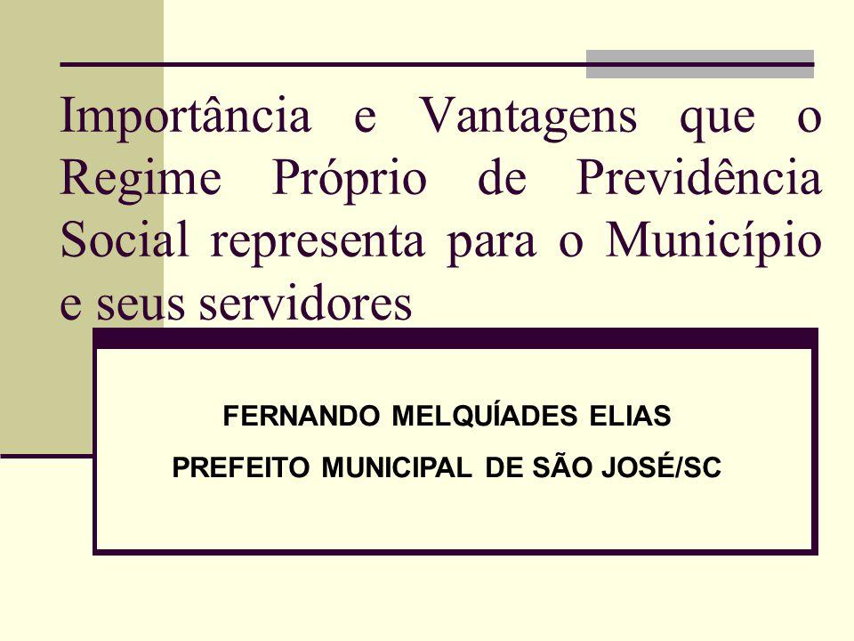 FERNANDO MELQUÍADES ELIAS PREFEITO MUNICIPAL DE SÃO JOSÉ/SC