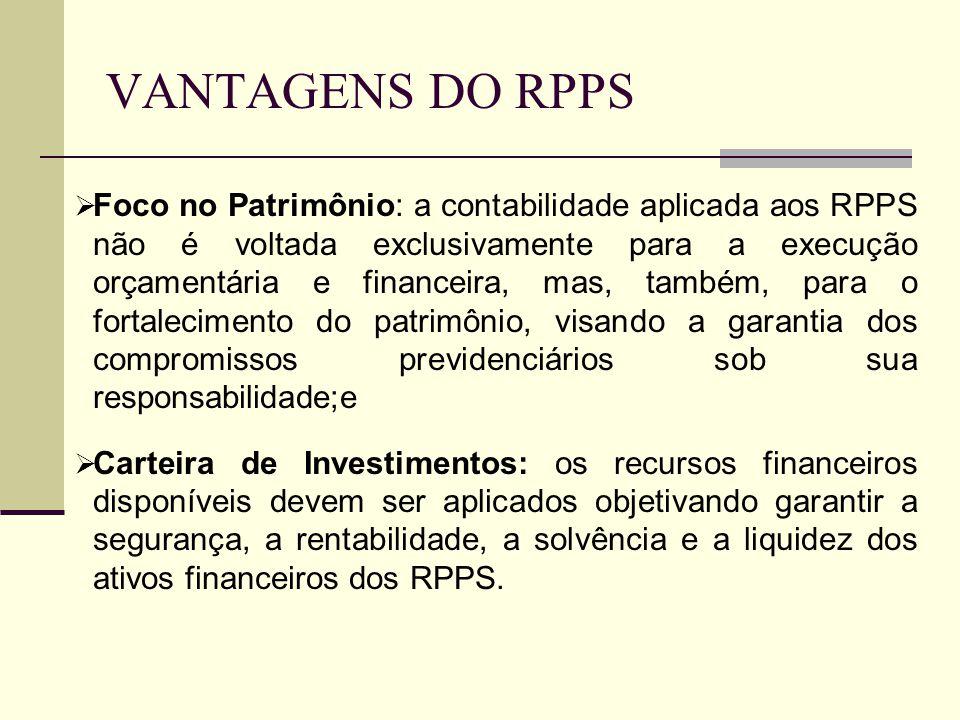 VANTAGENS DO RPPS