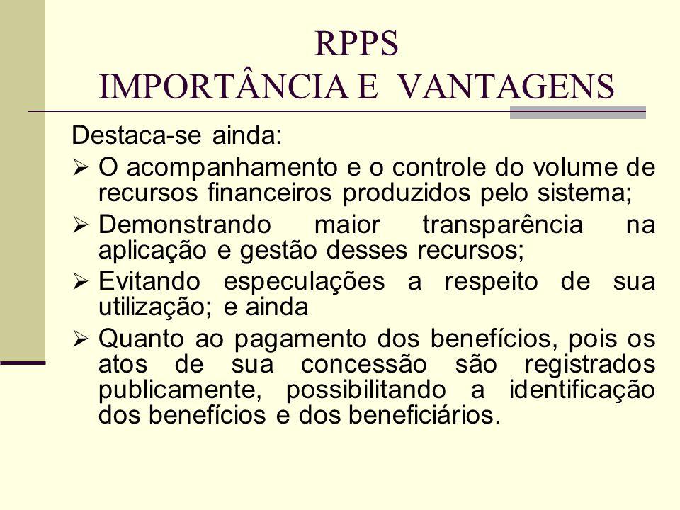 RPPS IMPORTÂNCIA E VANTAGENS