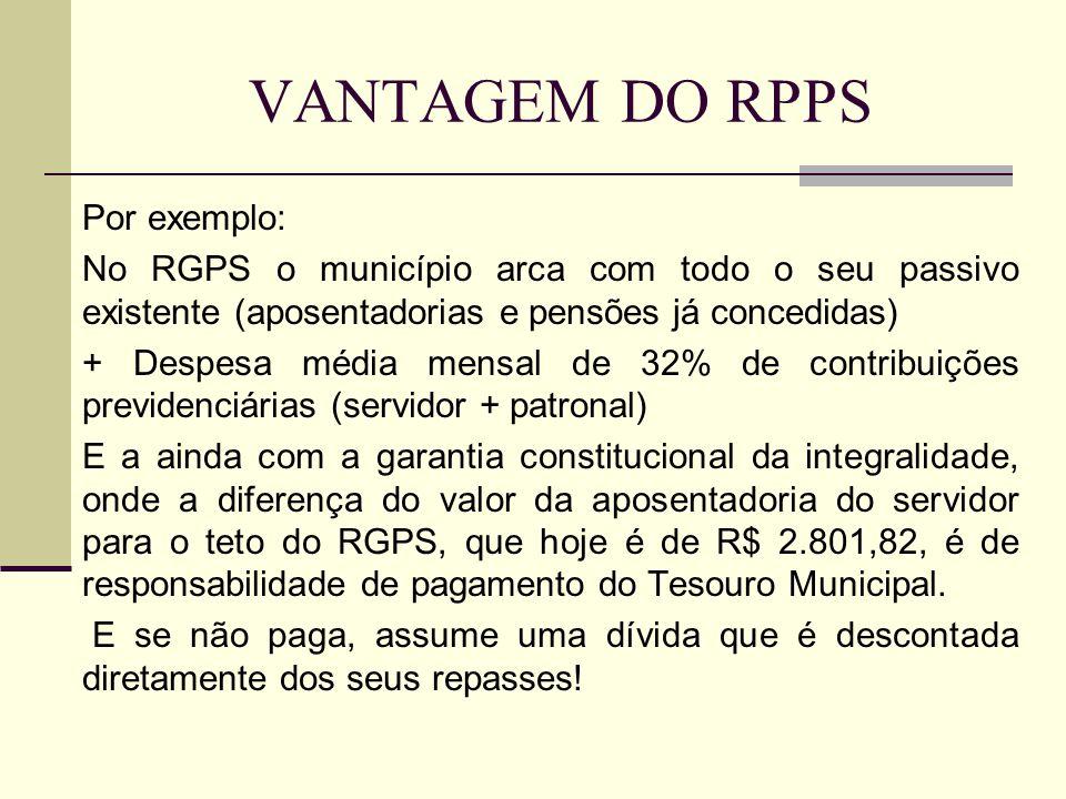 VANTAGEM DO RPPS Por exemplo: