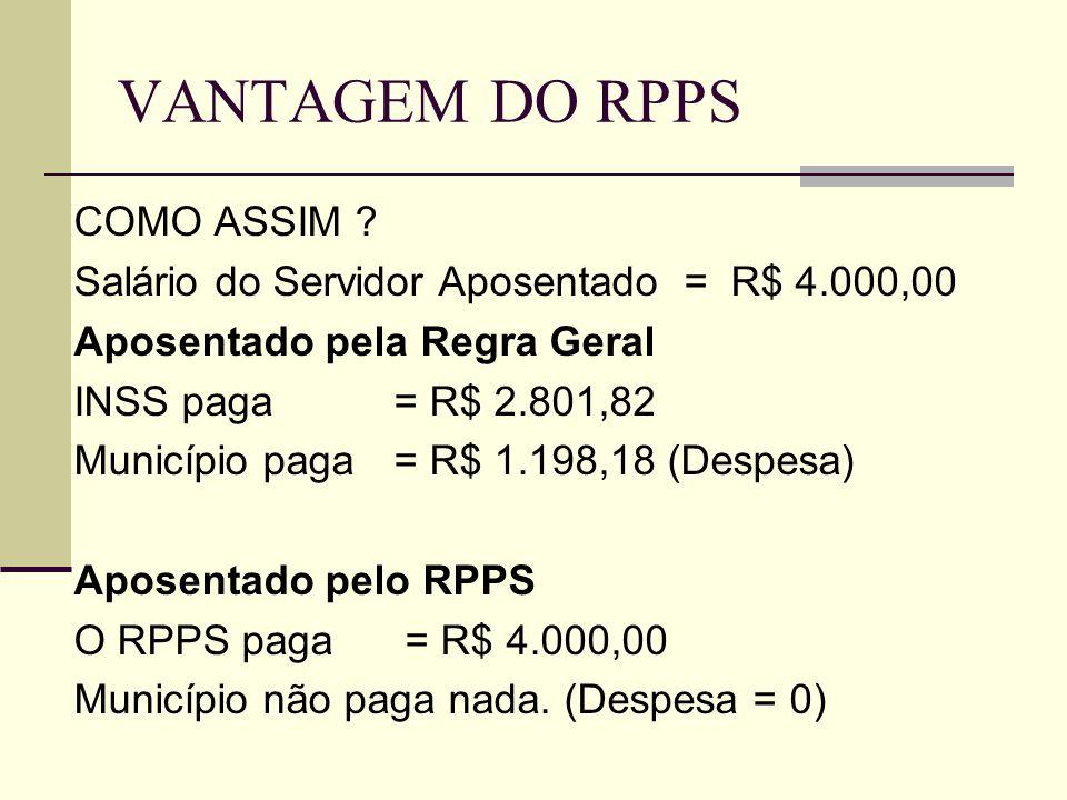VANTAGEM DO RPPS COMO ASSIM