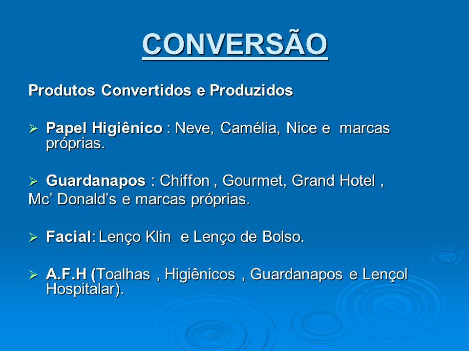 CONVERSÃO Produtos Convertidos e Produzidos