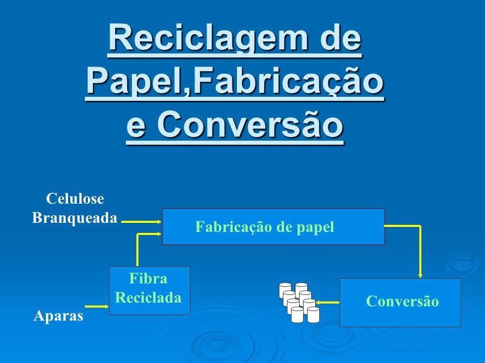 Reciclagem de Papel,Fabricação e Conversão