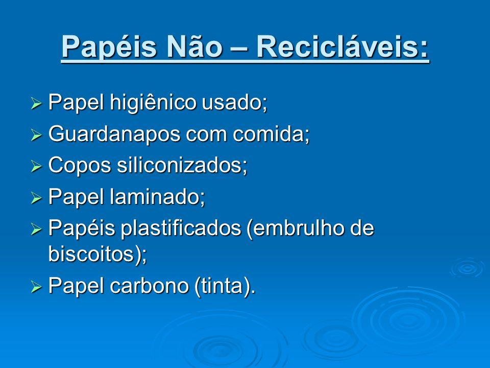 Papéis Não – Recicláveis: