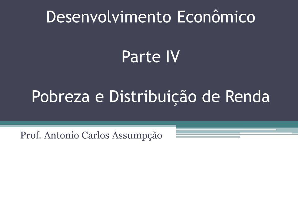 Desenvolvimento Econômico Parte IV Pobreza e Distribuição de Renda