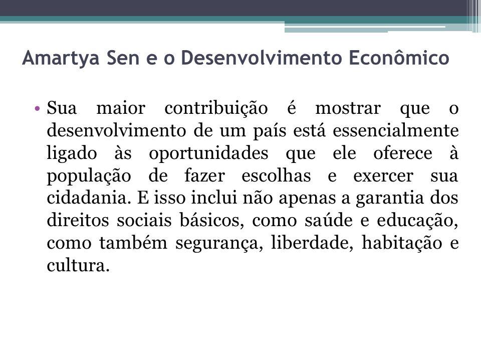 Amartya Sen e o Desenvolvimento Econômico