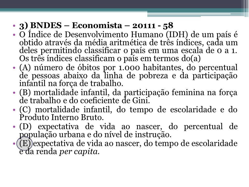 3) BNDES – Economista – 20111 - 58