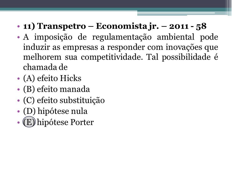 11) Transpetro – Economista jr. – 2011 - 58
