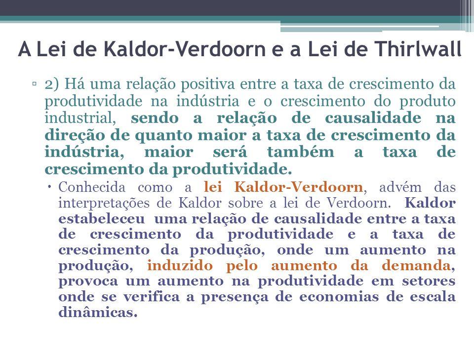 A Lei de Kaldor-Verdoorn e a Lei de Thirlwall
