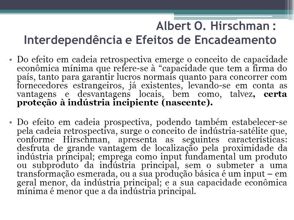 Albert O. Hirschman : Interdependência e Efeitos de Encadeamento