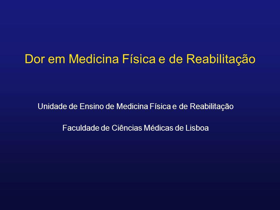 Dor em Medicina Física e de Reabilitação