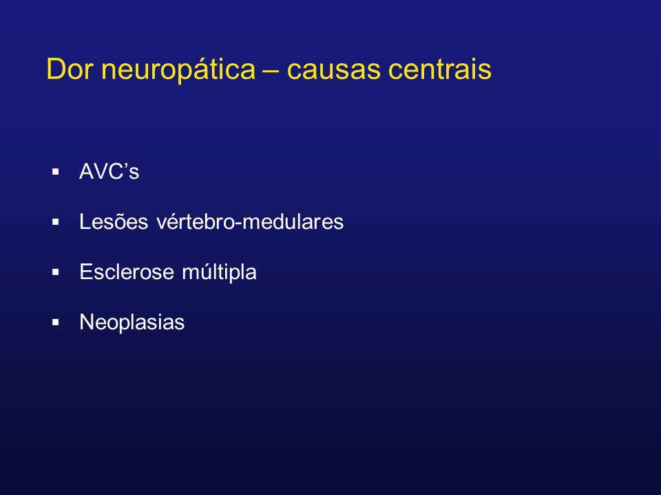 Dor neuropática – causas centrais