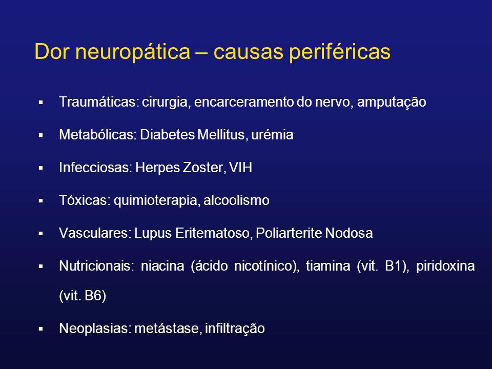 Dor neuropática – causas periféricas