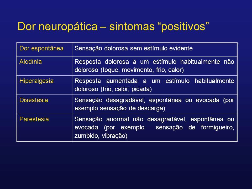 Dor neuropática – sintomas positivos
