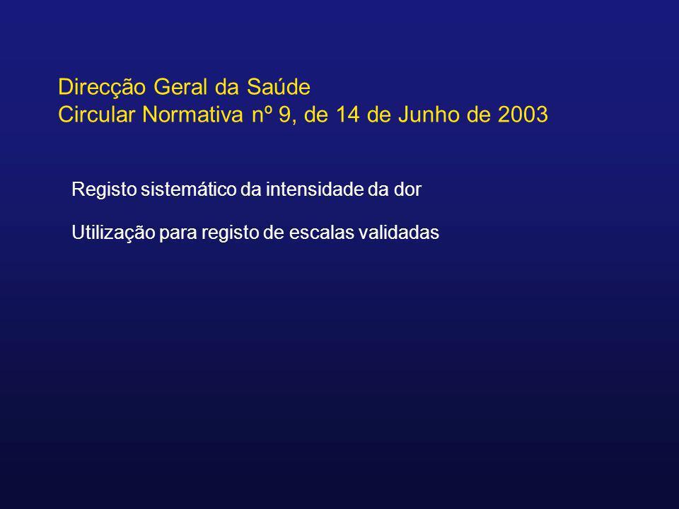 Direcção Geral da Saúde Circular Normativa nº 9, de 14 de Junho de 2003