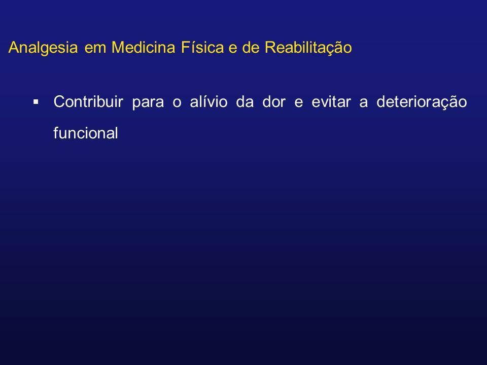 Analgesia em Medicina Física e de Reabilitação