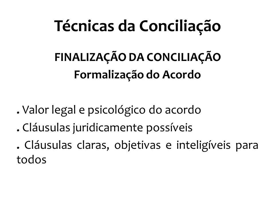 Técnicas da Conciliação