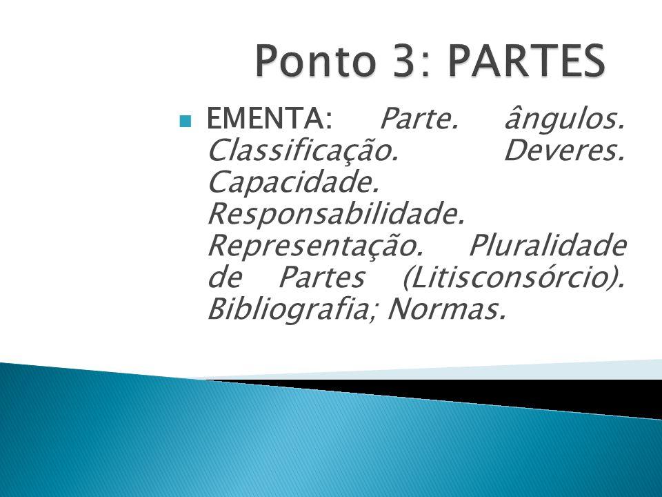 Ponto 3: PARTES