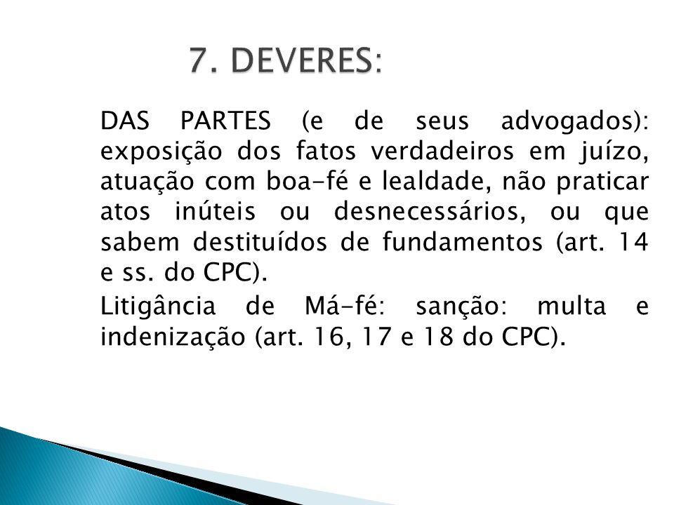 7. DEVERES: