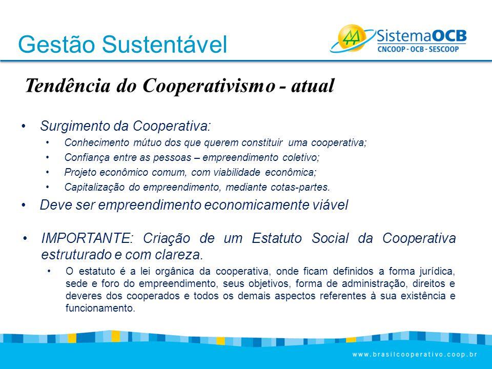 Gestão Sustentável Tendência do Cooperativismo - atual