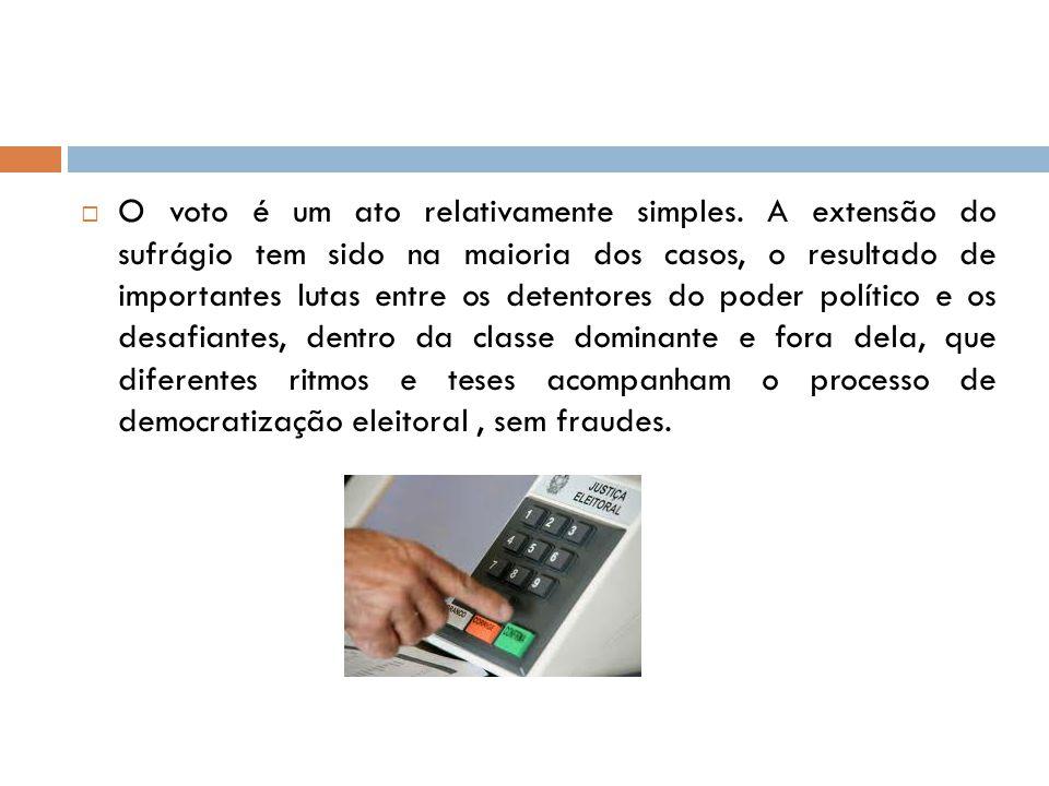 O voto é um ato relativamente simples