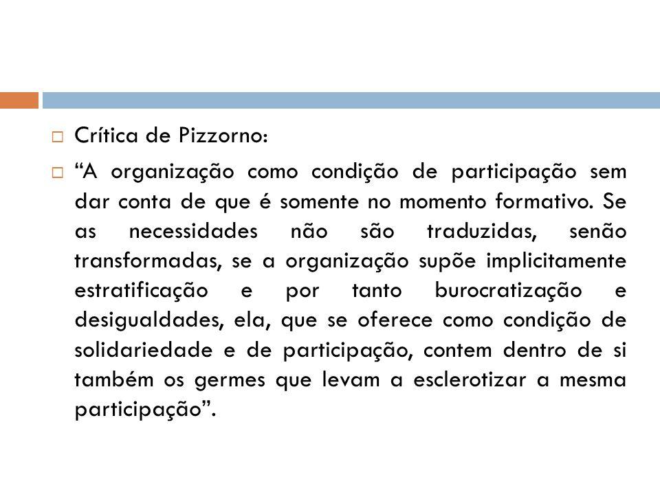 Crítica de Pizzorno: