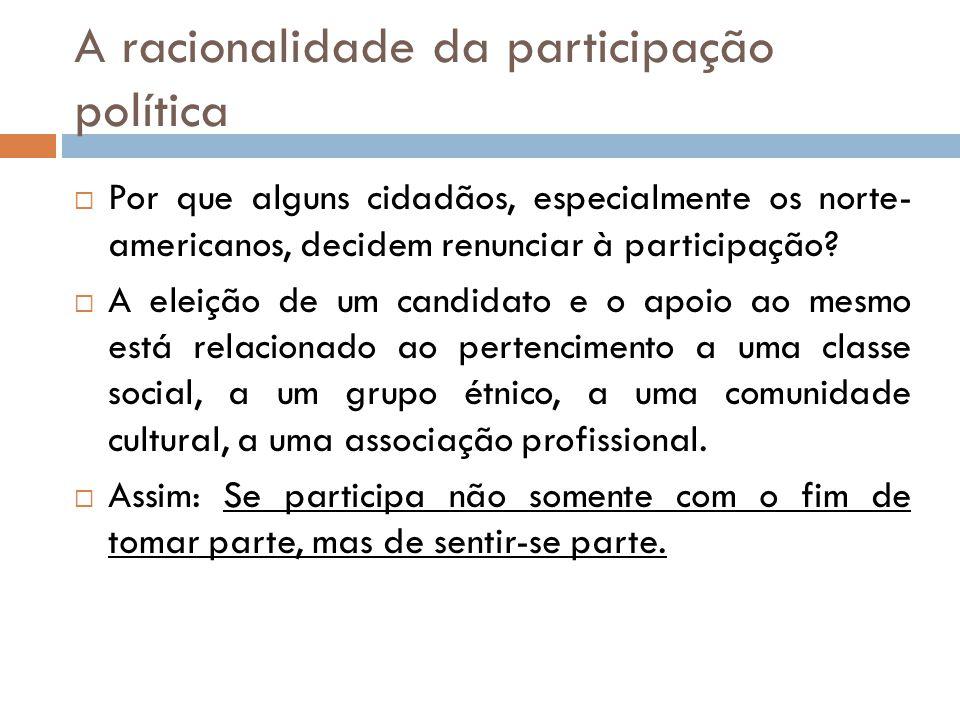 A racionalidade da participação política