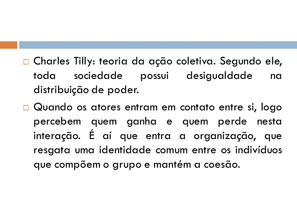 Charles Tilly: teoria da ação coletiva